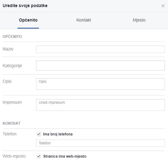promjena imena facebook stranica - facebook promocija - baza znanja poslovanje društvene mreže coolboss korak dva